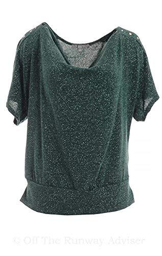 NY Collection Women's Metallic Sweater Cowl-Neck Dolman-Sleeve Plus Size NY C...  via @amazon