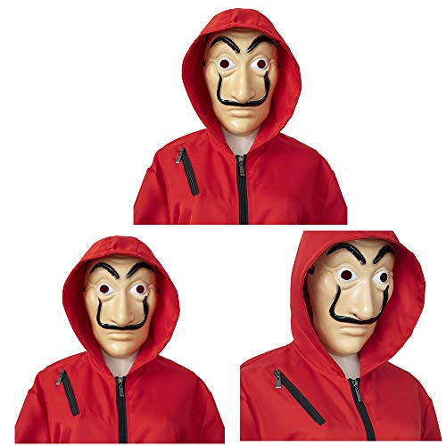 Kids La For amp;girls Coverall Heistpaper Casa AdultsBoys Mask Salvador Dali Clown Money Hoodie With Jumpsuits Halloween House De Cosplay Costume 4RjL5A