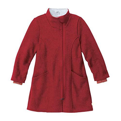 Disana Kinder Walk-Mantel für Mädchen Reine Bio-Merinowolle, Bordeaux, Gr. 146/152