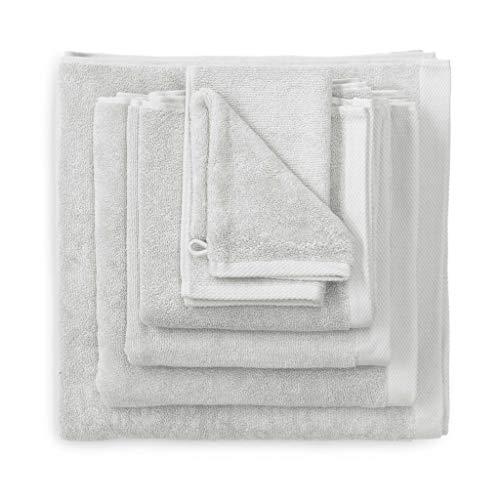 Heckett Lane Bath Hand Towel, 100% Cotton, Glacier Grey, 50 x 100 Cm, 3.0 Pieces