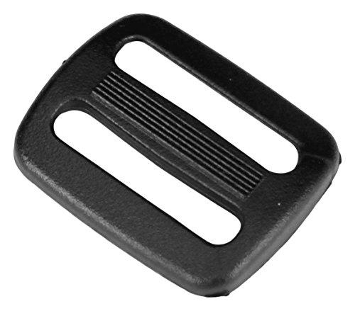 Strapworks Black Plastic Tri-Glide Slide – For Bag Straps, Rifle Slings, Dog Collars - 1 Inch, 25 Pack