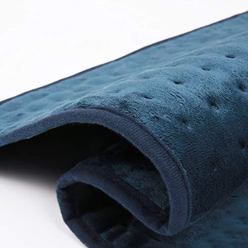 Großes Elektrisch Heizkissen 50 X 60cm für Rücken Nacken Schulter Wärmekissen mit Abschaltautomatik und Temperatureinstellung in 6 Stufen Waschmaschinenfestes