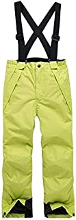 Kids Clothing Candy Color Winter Warm Breathable Waterproof Windproof Snowboard Kids Pant, Size: 146-152(Green) Boys Clothing (Color : Green)