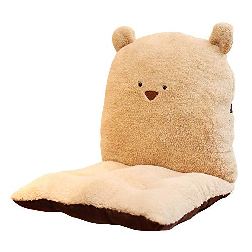 Soft Chair Cushion Detachable Rocking Chair Seat Back Cushion Set With Ties Chair Cushions Desk Seat Cushion Seat Cushion Pad Provide Comfort Warm and Healthy (Color : Beige, Size : Free size)