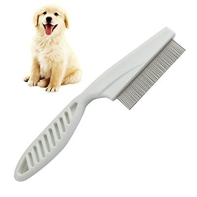 Milopon Flea Comb Nit Comb Nisse Comb for Dogs and Cat Dust Cap Fur Head Lice Treatment and remove Flea from Milopon
