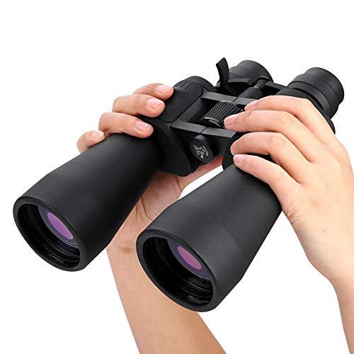 Ejoyous Prismaticos Profesionales, 20-180X100 Telescopio Portátil de Alta Definición Binocular de Alta Definición Prismáticos Profesionales Visión Nocturna HD para Deportes al Aire Libre