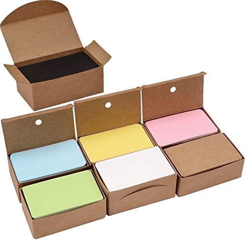 KAHEIGN 700Pcs Blanko Papier Karten, 7 Farben Kraftpapier Karten Mitteilungskarte Wortkarte Karteikarten DIY Papier Karten Ideal zum Graffiti Nachricht