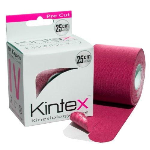Kintex Kinesiologie Tape Pre-Cut Pink, Kinesiologie-Tape vorgeschnitten, 20 Streifen, 25cm x 5cm, elastisch, wasserfest