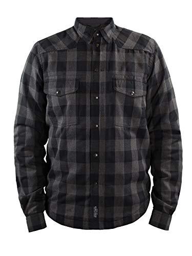 John Doe Motoshirt Grey/Black XTM | Motorradjacke mit Kevlar | XTM Made with DuPont Kevlar | Einsetzbare Protektoren | Atmungsaktiv | Motorrad Motoshirt