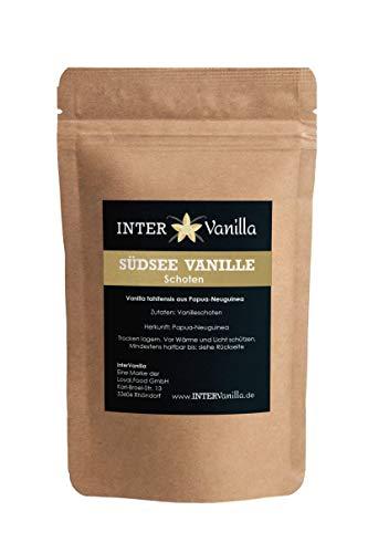 InterVanilla Südsee Vanilleschoten 4 Stück, 12/13 cm. Tolle Alternative zur Bourbon oder Gourmet Vanille
