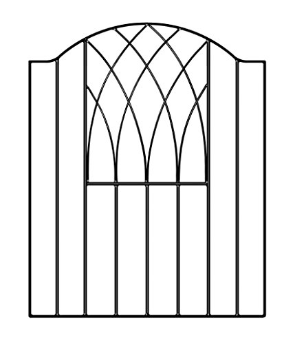 Photo of Verona Modern Garden Gates 850-900mm GAP X 945mm High Wrought Iron style Metal gate VESB