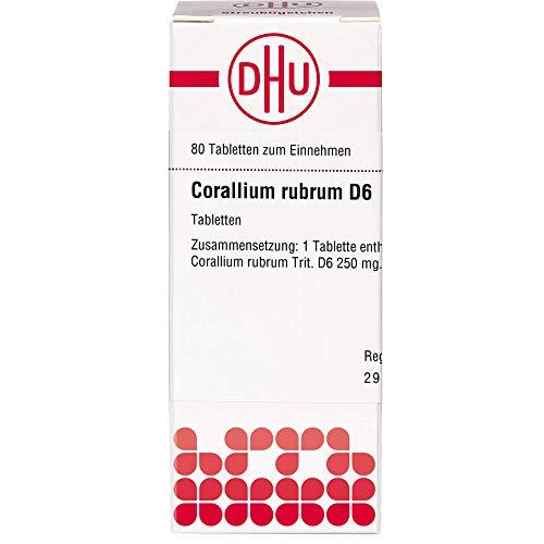 DHU Corallium rubrum D6 Tabletten, 80 St. Tabletten