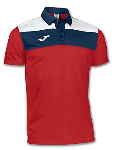 Joma Crew Camiseta Polo, Hombres, Rojo-600, 4XS