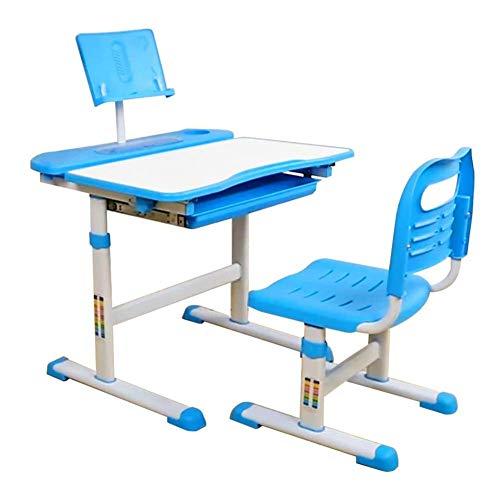 Vixzero Tisch und Stuhl Set für Kinder mit neigbarem Augenschutz Schreibtisch, maximale Stauraum, höhenverstellbarer Schreibtisch für Kinder von 3 bis 15 Jahren