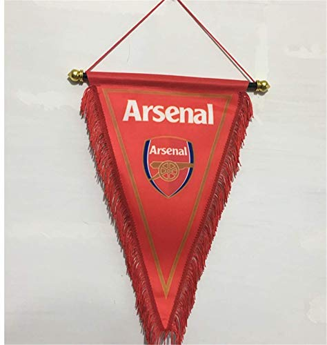 MCLAOSI Football Club Pennant Indoor and Outdoor Flags Vivid Color Hanging Flags Decor for Bedroom/Club/Bar/Event/Fan Merchandise Soccer (Arsenal)