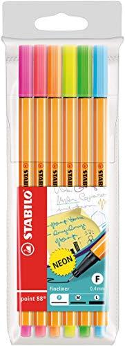 Fineliner - STABILO point 88 - 6er Pack - Neonfarben