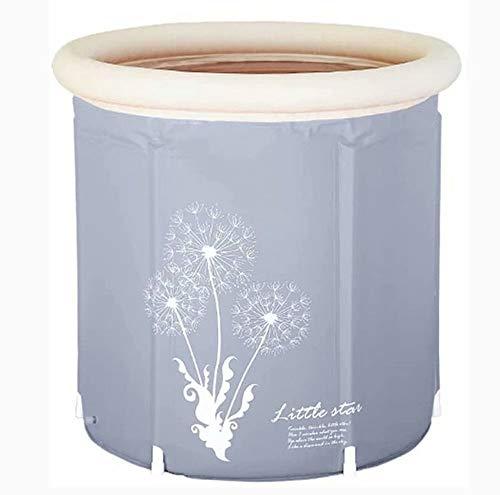 THMY Vasca Bagno Gonfiabile Pieghevole, Vasca Spa Portatile in plastica termostatica, Piscina per Adulti per Bambini, PVC Sano (Dimensioni: 65 * 75 cm)