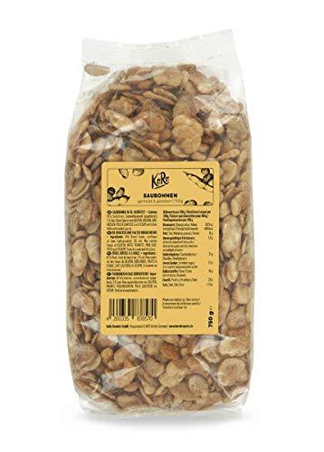KoRo - Fave tostate e salate 750g - snack croccante di legumi, spuntino vegetale gustoso con poche calorie, nutriente e ricco di proteine