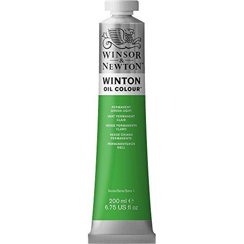 Winsor & Newton Winton Oil Color Paint, 200-ml Tube, Permanent Green Light