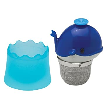 HIC Floatin' Whale Loose Tea Leaf Tea Infuser and Drip Catcher