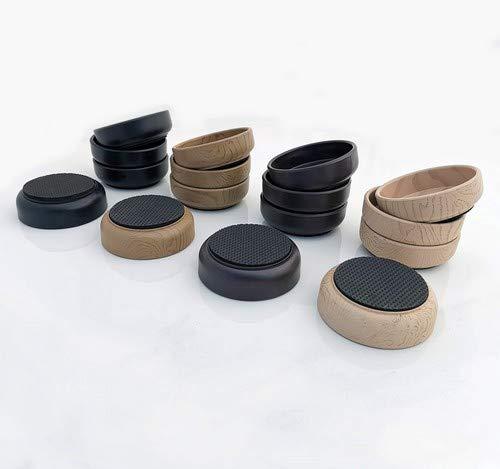 Medipaq Antislip onderzetter/wieltjes van rubber, 8 x donkerbruin, 66 mm, beschermt hout laminaat, hout, tegels en Lino vloeren tegen krassen