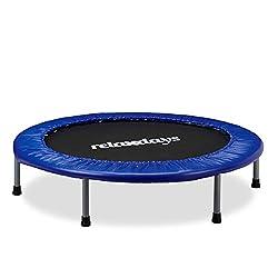 Relaxdays children's trampoline foldable, max. Person weight: 45 kg, size 96 cm, indoor trampoline blue-black