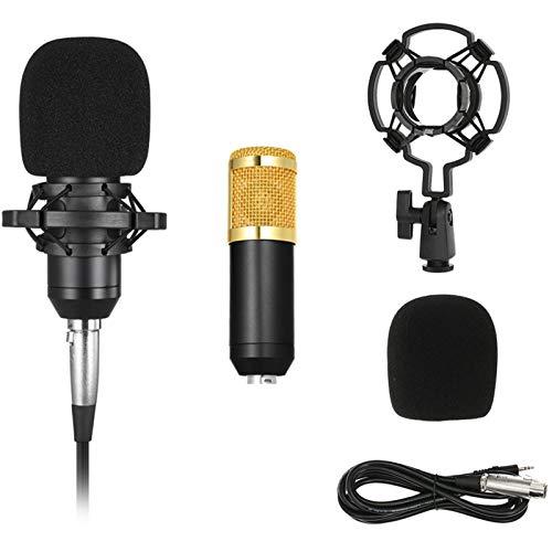 Docooler BM800 Microfone Condensador, Cabo de Áudio de 3.5mm, Microfone de Esponja
