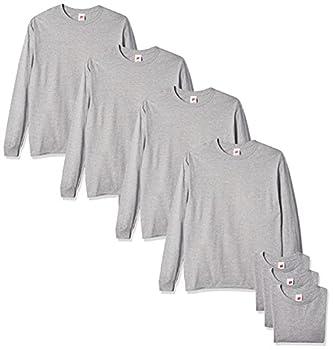 Hanes Men s Essentials Long Sleeve T-shirt Value Pack  4-pack  Light ST-Shirtl Large