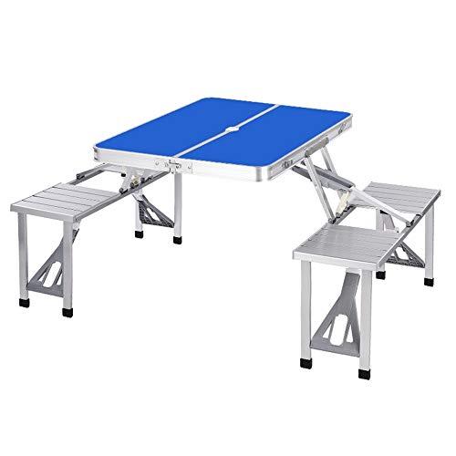 Mesa de comedor portátil de camping ligero Mesa plegable de aluminio de...