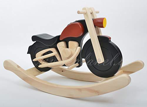 Alanel Cheval à bascule en bois pour moto
