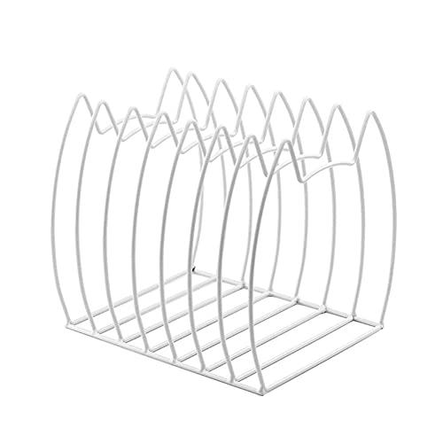 WKLIANGYUANPING Estanteria Libros Bookends Desktop Creative Bookshelf Decoration Forjado Hierro Love Book Book Set Nordic Wind Metal Simple Shelf Standstand (Color : White)