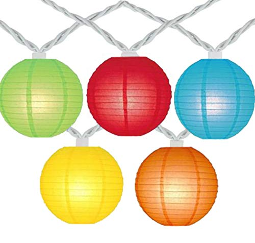 Romasaty Lantern String Lights,Colorful Hanging Lanterns String Light in Home & Garden Decorative Lights for Indoor Outdoor Patio Party Wedding Bedroom Bistro Bar
