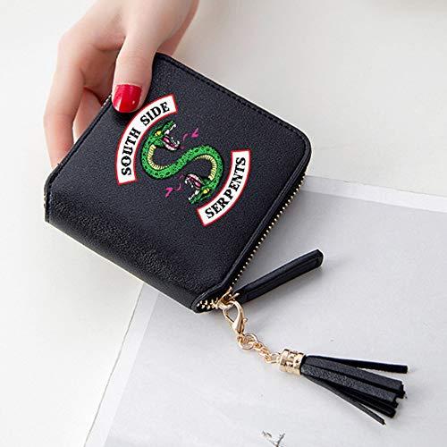 Riverdale Cartera de embrague de las serpientes del sur de cuero de la PU de la cartera del niño de la señora de la cartera de la TV Show Card Wallet