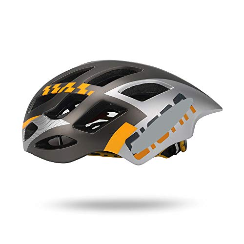 JIAGU Cascos para Bicicletas para Adultos Casco de Ciclista Casco de Patinaje Integrado Casco de Deportes (Color : Gray Silver, Size : L)
