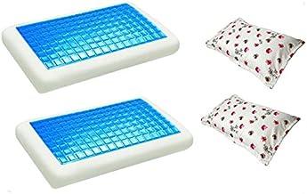 موون مخدة جل الطبية الباردة قطعتين مقاس 70x40 سم مع غطاء وسادة فارغ مقاس 75x50 سم، قطعتين ، KPCM-009