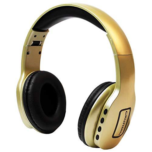 GRUNDIG Bluetooth Stereo Kopfhörer inkl. Mikrofon, bis 10m Reichweite, Gold, Smartphone und Tablet Stereokopfhörer Headset kabellos