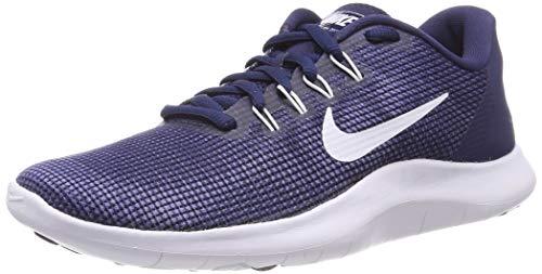 Nike Men's Flex RN 2018 Running Shoe Midnight Navy/White Size 7M