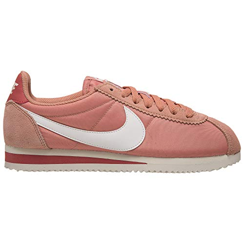 Nike Damen Women's Classic Cortez Nylon Shoe Traillaufschuhe, Pink (Rose Gold/Summit White/Light Redwood 611), 38 EU