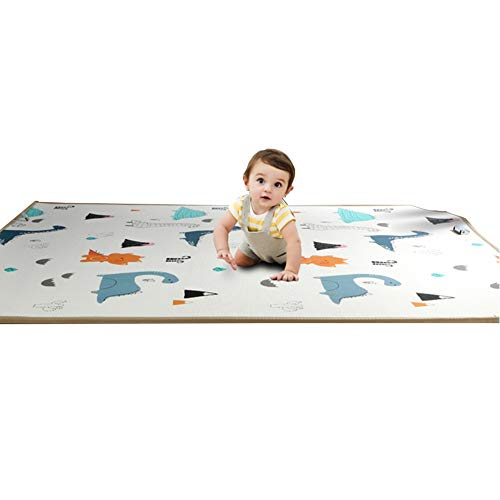 Review LIQICAI Baby Play Mat Infant Crawling Mat Kid's Puzzle Exercise Play Mat Portable Double-Side...