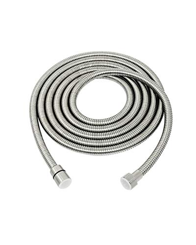 PHASAT 138-Inch Extra Long Shower Hose 304 Stainless Steel Handheld Shower Head Hose Extension,Outdoor Bathroom Tube Sprayer Replacement Hose Brushed Nickel,A3107N-3.5