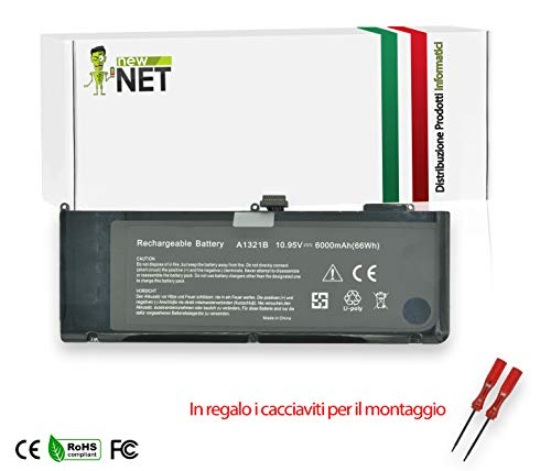 New Net 6000mAh Battery Compatible with Notebook Mac Book PRO 15' A1321 A1321B A1286 (Year 2009 and 2010) 661-5211