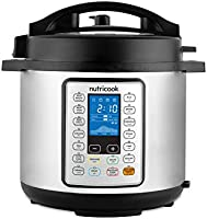 Nutricook Smart Pot Prime by Nutribullet 1000 Watts - 10 in 1 Instant Programmable Electric Pressure Cooker w/ Steam...