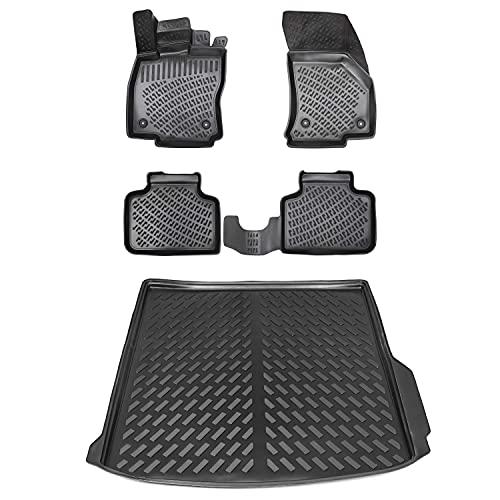 Gummimatten & Kofferraumwanne Set für VW Passat B8 Variant ab 2014 | Hoher Rand