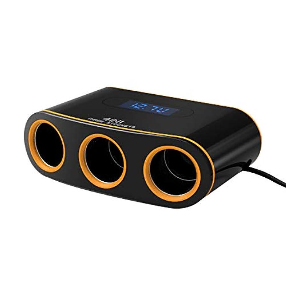 データムロールカバーTOOGOO 3ソケット 車のシガーライターアダプター、デュアルUSB車の充電器クイックチャージ3.0、iPhone Samsung携帯電話用 互換性のある 120Wコンセント電源シガーライタースプリッタ