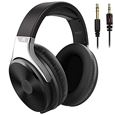 OneOdio Headphone Over Ear Wired Hi-Fi Studio Headphones 50mm Speaker 1/4 inch 6.35mm Jack Adapter Free Closed-Back Headphones for DJ Electric Drum Keyboard Guitar Amp PC iPad Music Cell Phone by OneOdio