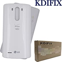 KDIFIX Back Cover Battery Door Housing Case Replacement- for LG G3 D850 D851 D855 VS985 LS990 (White)