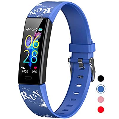 Mgaolo Slim Fitness Tracker for Kids Women,IP68 Waterproof Activity Tracker with Blood Pressure Heart Rate Sleep Monitor,11 Sport Modes Health Smart Watch with Alarm Clock for Fitbit,Great Gift (Blue)