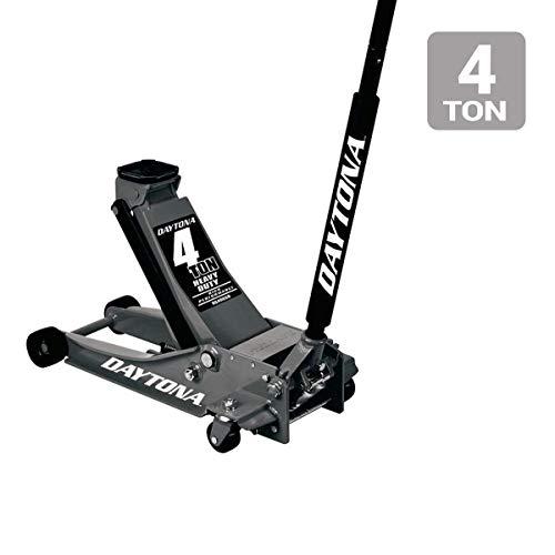 4 ton Steel Heavy Duty Floor Jack with Rapid Pump - Black