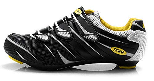 Tiebao Road Cycling Shoes Lock Pedal Bike Shoes Cleated Bicycle Ciclismo Shoes White 41