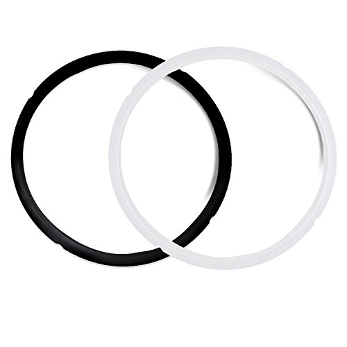 Pack of 2 Silicone Sealing Rings Compatible with Instant Pot 5 & 6 Quart - Fits IP-DUO60, IP-LUX60, IP-DUO50, IP-LUX50, Smart-60, IP-CSG60 and IP-CSG50